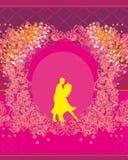 Ballroom dancers - invitation Stock Images