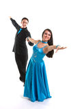 Ballroom Dancers L Blue 02 Royalty Free Stock Photography
