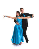 Ballroom Dancers L Blue 03 Royalty Free Stock Photos