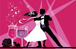Ballroom Dancers and Love. stock illustration