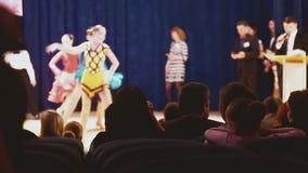 Ballroom dancing audience stock footage