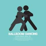 Ballroom Dancing. Black Graphic Symbol Vector Illustration stock illustration