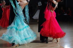 Ballroom dancing competition Stock Photography