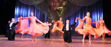Ballroom dancing Stock Images