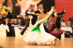 Ballroom dancing competition in Prague Royalty Free Stock Photo