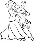Ballroom dancing - dancing couple Royalty Free Stock Photo