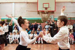 Ballroom dancing kids Stock Images