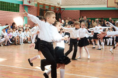Ballroom dancing kids Stock Photo