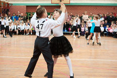 Ballroom dancing kids Stock Photos