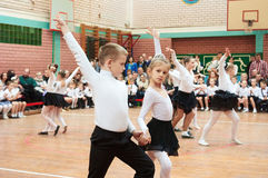 Ballroom dancing kids Stock Photo