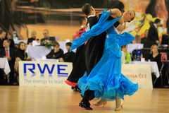 Ballroom dancing pair competition Stock Photo