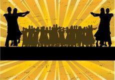 Ballroom Dancing Sunburst vector illustration