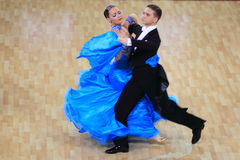Ballroom dancing - Zuzana Borska and Jakub Necpal Royalty Free Stock Images