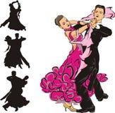 Ballroom dansen royalty-vrije illustratie