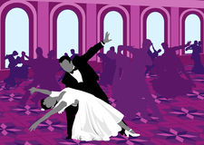 Ballroom dansen. stock illustratie