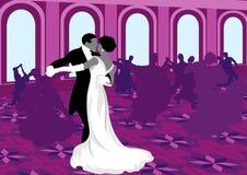 Ballroom dansen. vector illustratie