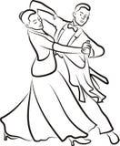 Ballroom dansen - dansend paar vector illustratie