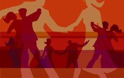 Ballroom dansen kleurrijke achtergrond royalty-vrije illustratie