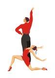 Ballroom dansenpaar stock illustratie
