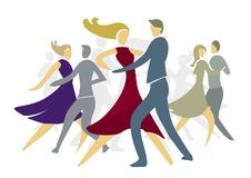 Ballroom dansenparen vector illustratie