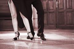 Ballroom dancers dancing couple stock photo