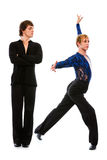 Ballroom male dancer making dance pose Royalty Free Stock Photo