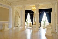 Ballroom in the Nesvizh Castle. The main room for the ball in the Nesvizh castle stock photography