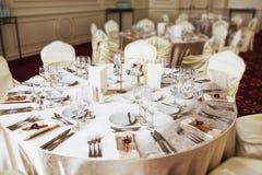 Ballroom setting for wedding Stock Image