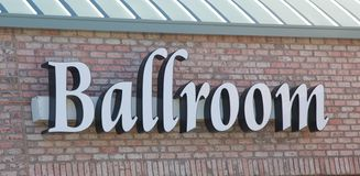 Ballroom Sign on a dance studio. Stock Image