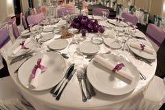Ballroom table. A bewutiful ballroom table for the wedding Royalty Free Stock Image