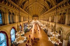 Ballroom in the Vienna City Hall, Austria Royalty Free Stock Photography