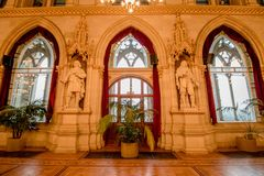 Ballroom in the Vienna City Hall, Austria Stock Images