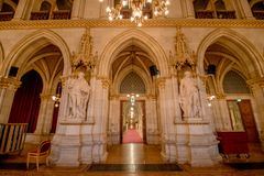 Ballroom in the Vienna City Hall, Austria Royalty Free Stock Images