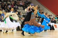 ballrooming的秀丽冠军捷克跳舞 免版税库存照片