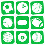 Balls. Vector collection of sport balls Stock Photography