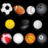 Balls. Vector collection of sport balls Royalty Free Stock Photography