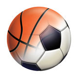 Balls. Football and Basketball mix (fusion Royalty Free Stock Photography