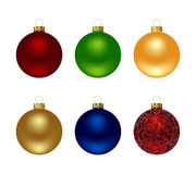 Balls. Colored collection of shiny christmas balls. Vector illustration Stock Photos