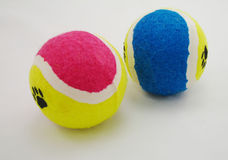 Balls. Coloful tennis balls royalty free stock image