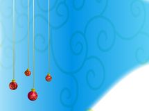 Balls. Red ball with curls on blue background Royalty Free Stock Photography
