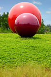 Balls. Garden ornaments for the beauty of the city into public appeal Royalty Free Stock Images