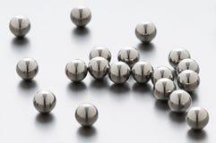 Balls. Metallic bearing balls on metal background close up shoot stock image