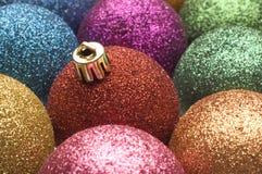 Balls. Christmas ornaments balls close up shoot Stock Images