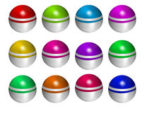 Balls. Color balls in white background eps Royalty Free Stock Photography