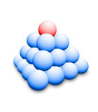 Balls. The picture shows a 3d illustration of blue and red balls Stock Photos