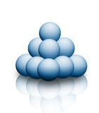 Balls. The picture shows a 3d illustration of blue  balls Royalty Free Stock Image