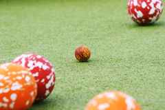 Balls. Bowls competition Royalty Free Stock Photos