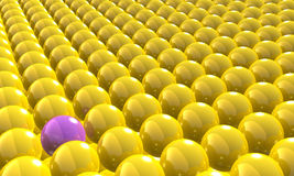 Balls. Yellow balls, concept modern background stock illustration