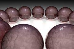 Balls. Metallic balls Stock Images