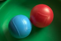 Balls. Balls in a kids playset Stock Photos